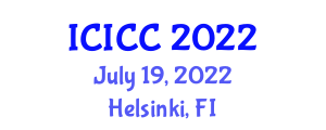 International Conference on Information, Computation and Cryptography (ICICC) July 19, 2022 - Helsinki, Finland
