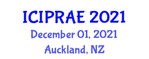 International Conference on Infrastructure and Productivity in Agricultural Engineering (ICIPRAE) December 01, 2021 - Auckland, New Zealand