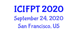 International Conference on Innovative Food Processing Techniques (ICIFPT) September 24, 2020 - San Francisco, United States