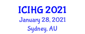 International Conference on Integrated and Human Geography (ICIHG) January 28, 2021 - Sydney, Australia