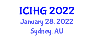 International Conference on Integrated and Human Geography (ICIHG) January 28, 2022 - Sydney, Australia