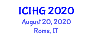 International Conference on Integrative and Human Geography (ICIHG) August 20, 2020 - Rome, Italy