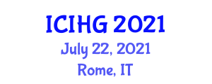 International Conference on Integrative and Human Geography (ICIHG) July 22, 2021 - Rome, Italy