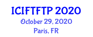 International Conference on Intelligent Freight Transportation and Freight Transport Policies (ICIFTFTP) October 29, 2020 - Paris, France