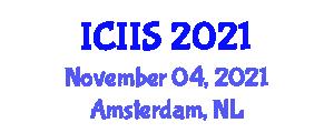 International Conference on Intelligent Infrastructure Systems (ICIIS) November 04, 2021 - Amsterdam, Netherlands