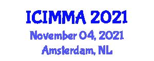 International Conference on Intelligent Mechatronics and Manufacturing Automation (ICIMMA) November 04, 2021 - Amsterdam, Netherlands