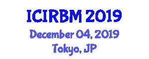 International Conference on Intelligent River Basin Management (ICIRBM) December 04, 2019 - Tokyo, Japan