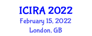 International Conference on Intelligent Robotics and Applications (ICIRA) February 15, 2022 - London, United Kingdom