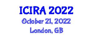 International Conference on Intelligent Robotics and Applications (ICIRA) October 21, 2022 - London, United Kingdom