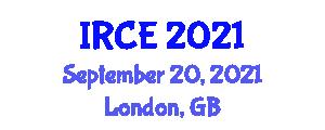 International Conference on Intelligent Robotics and Control Engineering (IRCE) September 20, 2021 - London, United Kingdom