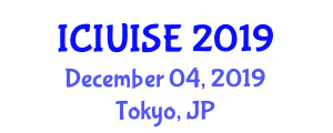 International Conference on Intelligent Urban Infrastructure Systems Engineering (ICIUISE) December 04, 2019 - Tokyo, Japan
