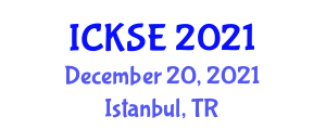 International Conference on Knowledge Security and Encryption (ICKSE) December 20, 2021 - Istanbul, Turkey