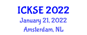 International Conference on Knowledge Security and Encryption (ICKSE) January 21, 2022 - Amsterdam, Netherlands