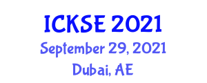 International Conference on Knowledge Storage and Encryption (ICKSE) September 29, 2021 - Dubai, United Arab Emirates