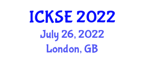 International Conference on Knowledge Storage and Encryption (ICKSE) July 26, 2022 - London, United Kingdom