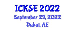 International Conference on Knowledge Storage and Encryption (ICKSE) September 29, 2022 - Dubai, United Arab Emirates