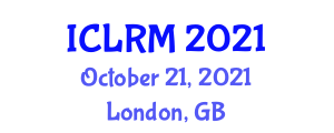 International Conference on Laboratory Robotics and Mechatronics (ICLRM) October 21, 2021 - London, United Kingdom