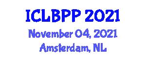 International Conference on Language Based Parallel Programming (ICLBPP) November 04, 2021 - Amsterdam, Netherlands