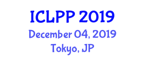 International Conference on Laser Physics and Photonics (ICLPP) December 04, 2019 - Tokyo, Japan