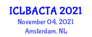 International Conference on Learning-Based Adaptive Control Theory and Applications (ICLBACTA) November 04, 2021 - Amsterdam, Netherlands