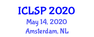 International Conference on Lexicology and Discourse Prosody (ICLSP) May 14, 2020 - Amsterdam, Netherlands