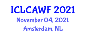 International Conference on Life Cycle Analysis and Water Footprint (ICLCAWF) November 04, 2021 - Amsterdam, Netherlands