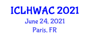 International Conference on Livestock Health, Welfare and Animal Care (ICLHWAC) June 24, 2021 - Paris, France