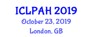 International Conference on Livestock, Poultry and Animal Husbandry (ICLPAH) October 23, 2019 - London, United Kingdom