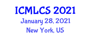 International Conference on Machine Learning in Computer Security (ICMLCS) January 28, 2021 - New York, United States