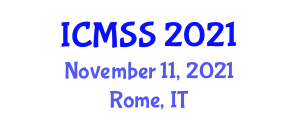 International Conference on Management Systems and Strategies (ICMSS) November 11, 2021 - Rome, Italy