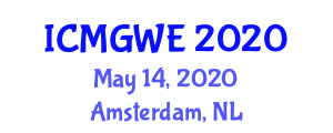 International Conference on Marine Geology and Wave Erosion (ICMGWE) May 14, 2020 - Amsterdam, Netherlands