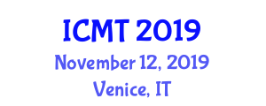 International Conference on Maritime Transport (ICMT) November 12, 2019 - Venice, Italy