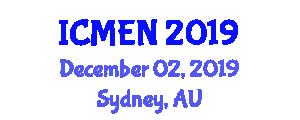 International Conference on Materials Engineering and Nanosciences (ICMEN) December 02, 2019 - Sydney, Australia