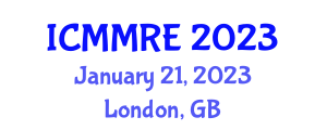 International Conference on Mechanical, Mechatronics and Robotics Engineering (ICMMRE) January 21, 2023 - London, United Kingdom