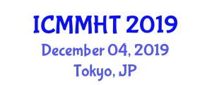 International Conference on Mechanical Metallurgy and Hardness Test (ICMMHT) December 04, 2019 - Tokyo, Japan