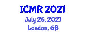 International Conference on Medical Robotics (ICMR) July 26, 2021 - London, United Kingdom