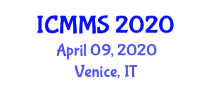International Conference on Metallurgy and Material Science (ICMMS) April 09, 2020 - Venice, Italy