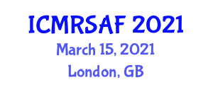 International Conference on Micro Robotic Systems and Application Fields (ICMRSAF) March 15, 2021 - London, United Kingdom