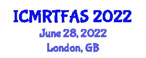 International Conference on Micro Robotic Technologies, Flexures, Actuators and Sensors (ICMRTFAS) June 28, 2022 - London, United Kingdom