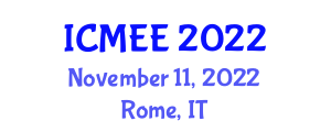 International Conference on Microelectronics and Electrical Engineering (ICMEE) November 11, 2022 - Rome, Italy