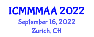 International Conference on Microporous and Mesoporous Materials for Advanced Applications (ICMMMAA) September 16, 2022 - Zurich, Switzerland