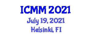 International Conference on Microrobotics and Microsystems (ICMM) July 19, 2021 - Helsinki, Finland