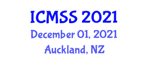 International Conference on Military Science and Studies (ICMSS) December 01, 2021 - Auckland, New Zealand