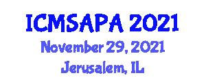 International Conference on Modeling Smart Actuators and Piezoelectric Actuators (ICMSAPA) November 29, 2021 - Jerusalem, Israel