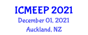International Conference on Molecules in Engineering and Electrical Properties (ICMEEP) December 01, 2021 - Auckland, New Zealand