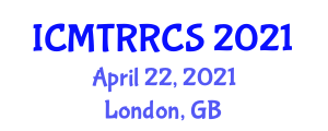 International Conference on Movement Therapy Robots and Robotic Control Strategies (ICMTRRCS) April 22, 2021 - London, United Kingdom