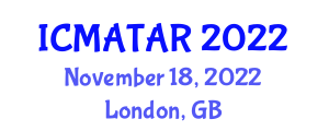 International Conference on Multi-Agent Technologies and Advanced Robotics (ICMATAR) November 18, 2022 - London, United Kingdom