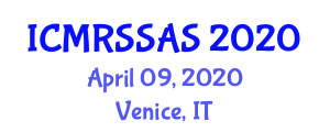 International Conference on Multispectral Remote Sensing Systems and Analysis Software (ICMRSSAS) April 09, 2020 - Venice, Italy