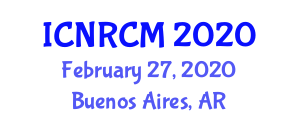 International Conference on Nanofiber Reinforced Composite Materials (ICNRCM) February 27, 2020 - Buenos Aires, Argentina
