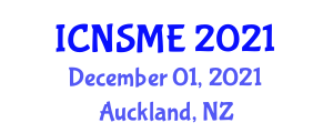 International Conference on Nanomaterials Science and Mechanical Engineering (ICNSME) December 01, 2021 - Auckland, New Zealand